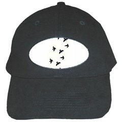 Waterproof Temporary Tattoo -----Three birds Black Baseball Cap