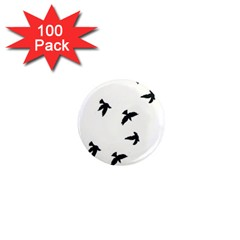 Waterproof Temporary Tattoo -----Three birds 1  Mini Button Magnet (100 pack)