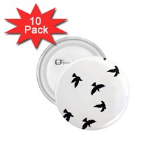 Waterproof Temporary Tattoo -----Three birds 1.75  Button (10 pack)