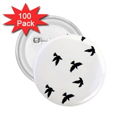 Waterproof Temporary Tattoo      Three Birds 2 25  Button (100 Pack)