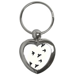 Waterproof Temporary Tattoo -----Three birds Key Chain (Heart)