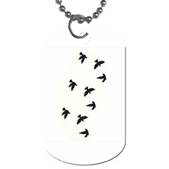 Waterproof Temporary Tattoo      Three Birds Dog Tag (two Sided)
