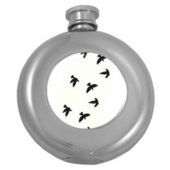 Waterproof Temporary Tattoo -----Three birds Hip Flask (Round)