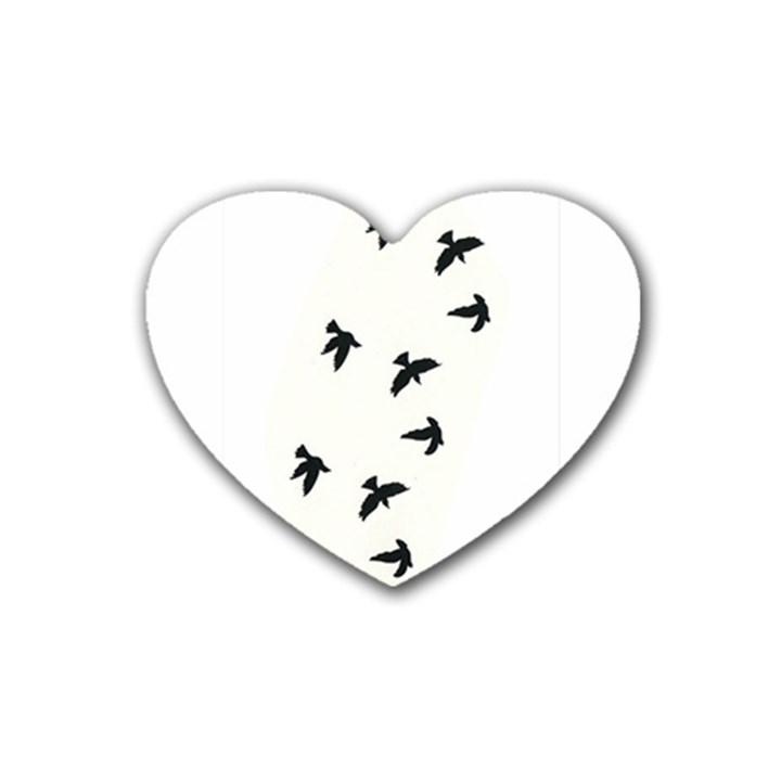 Waterproof Temporary Tattoo -----Three birds Drink Coasters 4 Pack (Heart)