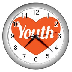 Youth Concept Design 01 Wall Clock (Silver)