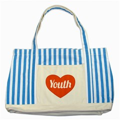 Youth Concept Design 01 Blue Striped Tote Bag