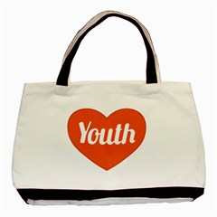 Youth Concept Design 01 Twin-sided Black Tote Bag