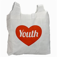 Youth Concept Design 01 White Reusable Bag (one Side)