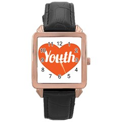 Youth Concept Design 01 Rose Gold Leather Watch