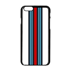 Martini White No Logo Apple iPhone 6 Black Enamel Case