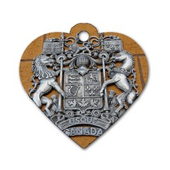 Metal Canada Coat Of Arms Dog Tag Heart (one Sided)