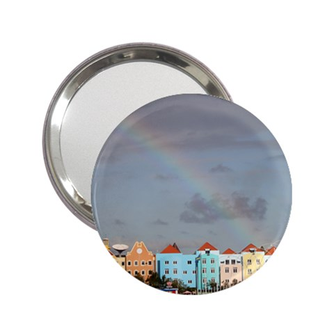 Rainbow over Willemstad Curacao Handbag Mirror (2.25