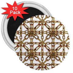 Chain Pattern Collage 3  Button Magnet (10 pack)