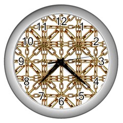 Chain Pattern Collage Wall Clock (Silver)