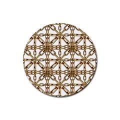 Chain Pattern Collage Drink Coaster (round)