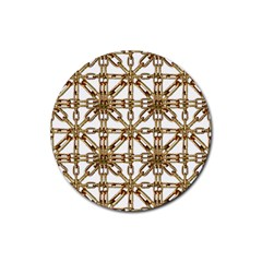 Chain Pattern Collage Drink Coasters 4 Pack (Round)