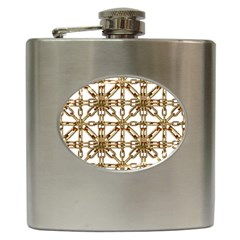 Chain Pattern Collage Hip Flask