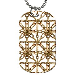 Chain Pattern Collage Dog Tag (two Sided)