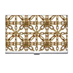 Chain Pattern Collage Business Card Holder