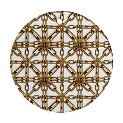Chain Pattern Collage Round Ornament (two Sides)