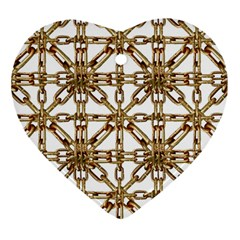 Chain Pattern Collage Heart Ornament (two Sides)
