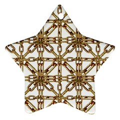 Chain Pattern Collage Star Ornament (two Sides)