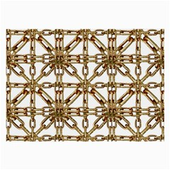 Chain Pattern Collage Glasses Cloth (Large, Two Sided)