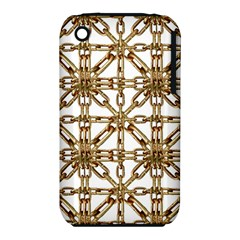 Chain Pattern Collage Apple Iphone 3g/3gs Hardshell Case (pc+silicone)