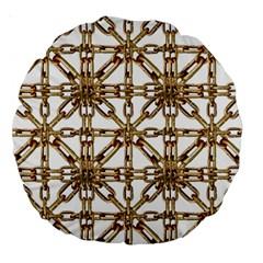Chain Pattern Collage 18  Premium Round Cushion