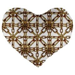 Chain Pattern Collage 19  Premium Heart Shape Cushion