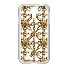 Chain Pattern Collage Samsung GALAXY S4 I9500/ I9505 Case (White)