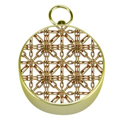 Chain Pattern Collage Gold Compass