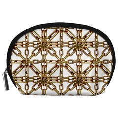 Chain Pattern Collage Accessory Pouch (large)