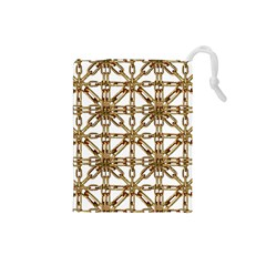 Chain Pattern Collage Drawstring Pouch (small)