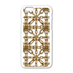 Chain Pattern Collage Apple iPhone 6 White Enamel Case
