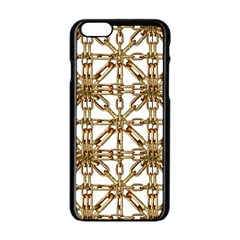 Chain Pattern Collage Apple iPhone 6 Black Enamel Case