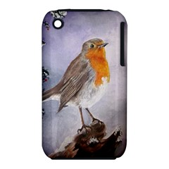 Robin On Log Apple iPhone 3G/3GS Hardshell Case (PC+Silicone)