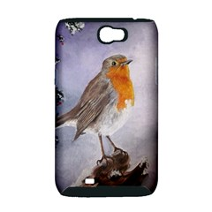 Robin On Log Samsung Galaxy Note 2 Hardshell Case (PC+Silicone)