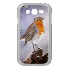 Robin On Log Samsung Galaxy Grand DUOS I9082 Case (White)