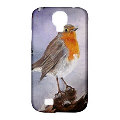 Robin On Log Samsung Galaxy S4 Classic Hardshell Case (pc+silicone)