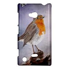 Robin On Log Nokia Lumia 720 Hardshell Case