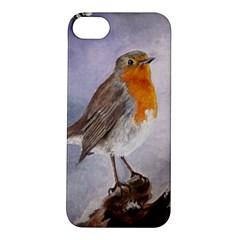 Robin On Log Apple Iphone 5s Hardshell Case