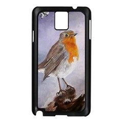 Robin On Log Samsung Galaxy Note 3 N9005 Case (Black)