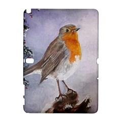 Robin On Log Samsung Galaxy Note 10.1 (P600) Hardshell Case