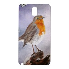 Robin On Log Samsung Galaxy Note 3 N9005 Hardshell Back Case