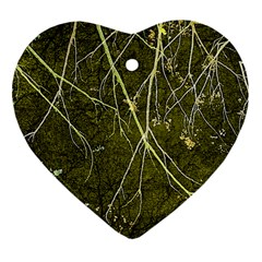 Wild Nature Collage Print Heart Ornament