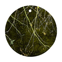 Wild Nature Collage Print Round Ornament (two Sides)