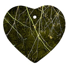 Wild Nature Collage Print Heart Ornament (Two Sides)