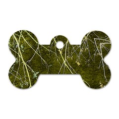 Wild Nature Collage Print Dog Tag Bone (Two Sided)