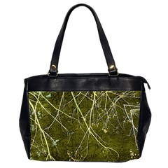 Wild Nature Collage Print Oversize Office Handbag (two Sides)